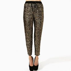 """<b>Nasty Gal</b> Mercury Sequin Pant in gold <a href=""""http://www.nastygal.com/clothes-bottoms-pants/mercury-sequin-pant#"""">$54</a>"""