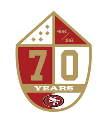 49ers 70th anniversary logo