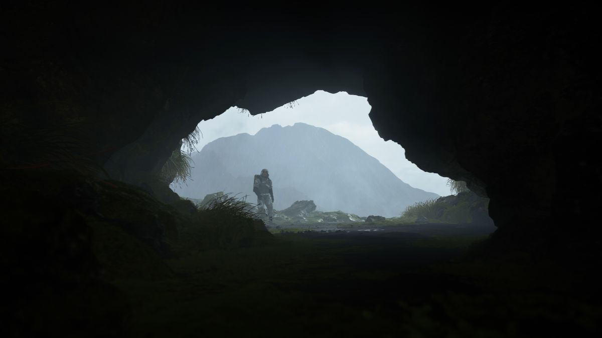 Sam Porter Bridges standing at the mouth of a cave