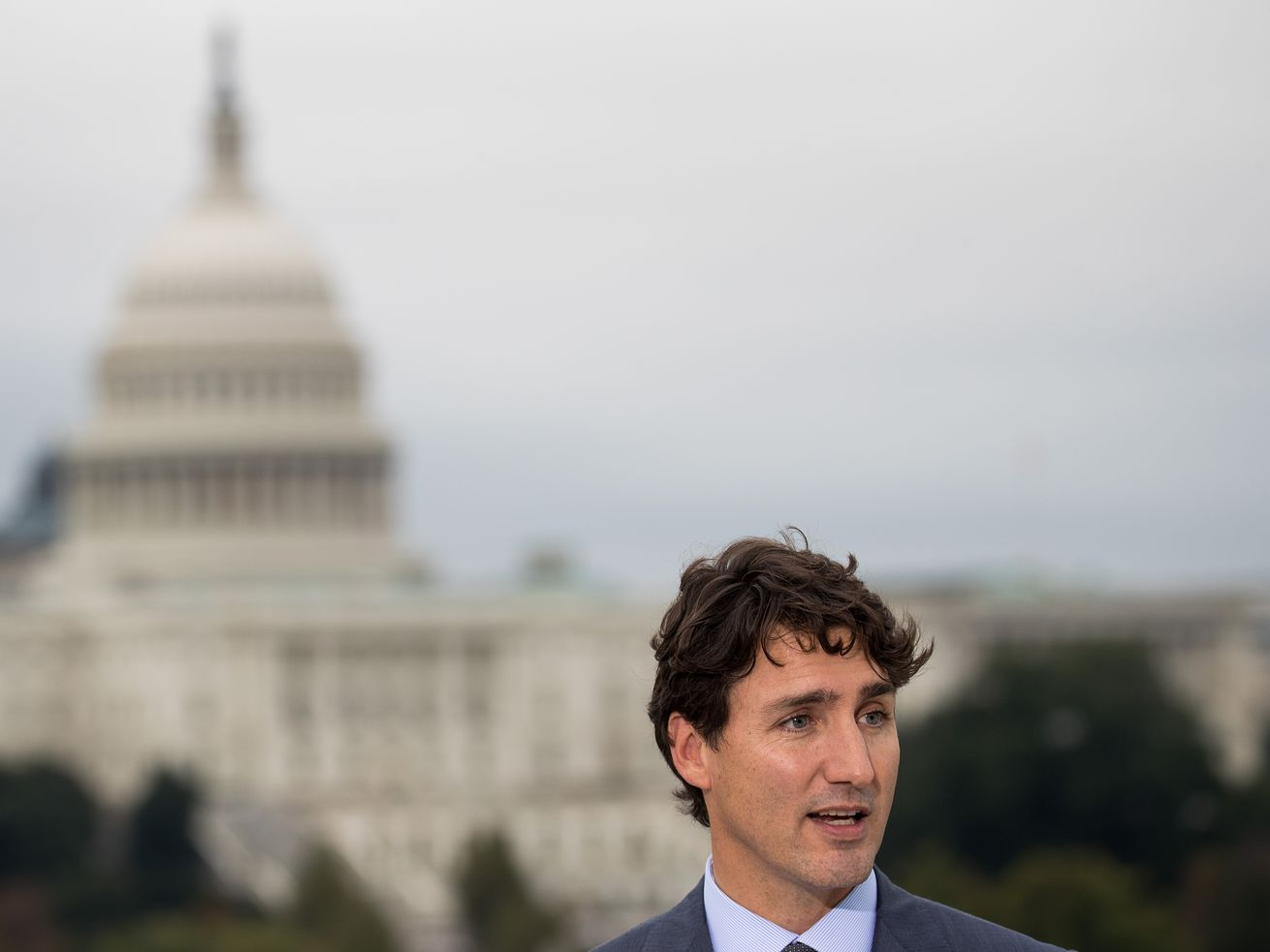 Canadian Prime Minister Justin Trudeau in Washington, DC, in 2017.