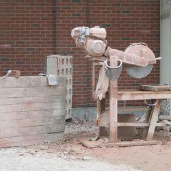 4:31 p.m. Brick cutting machine on Sheffield -
