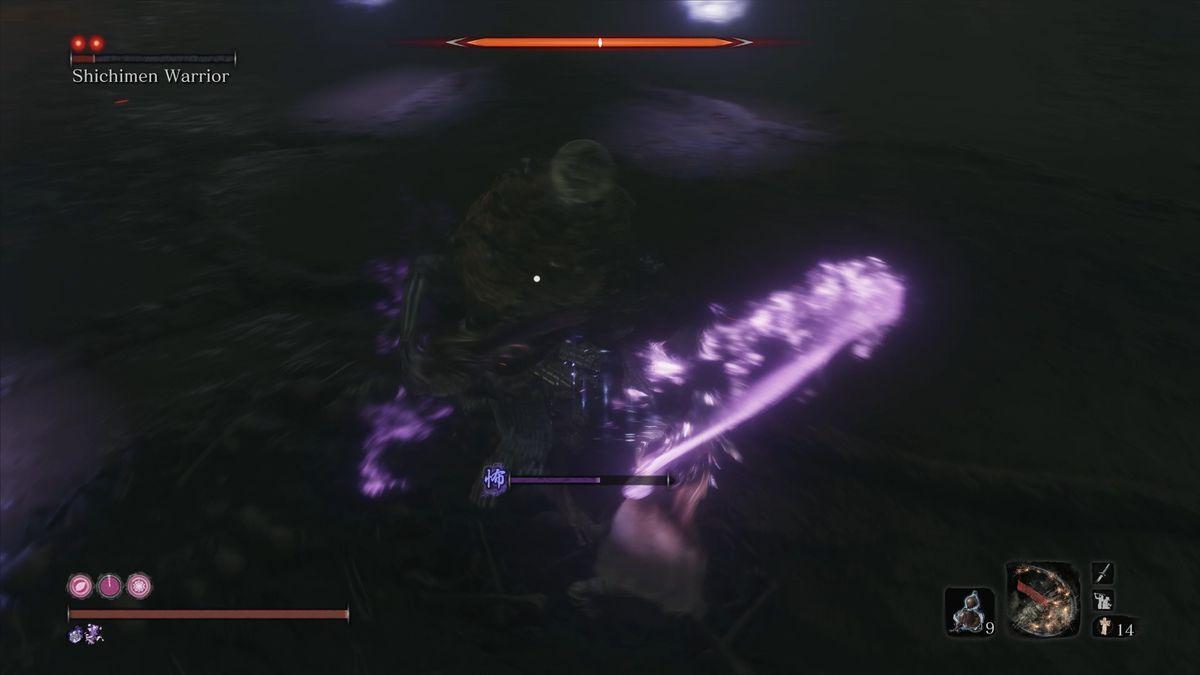 Sekiro Shichimen Warrior transparent teleportation