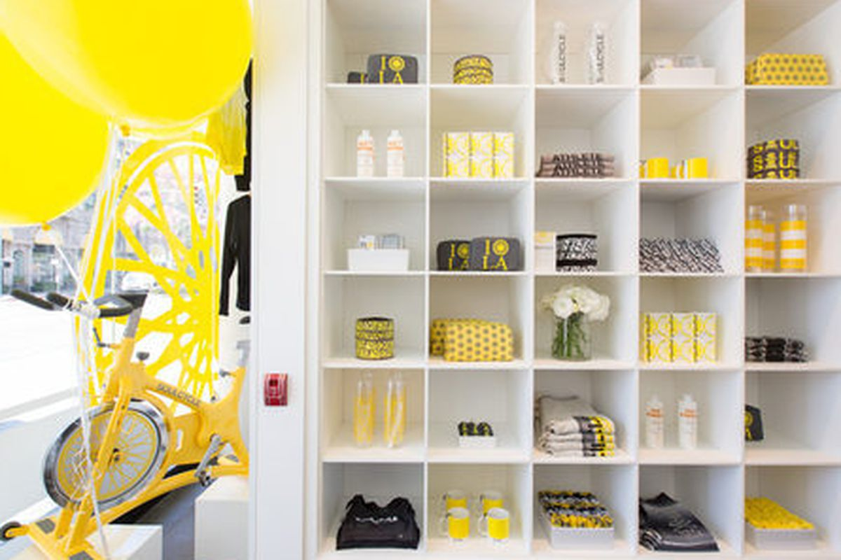 """Image via <a href=""""http://la.racked.com/archives/2013/09/17/soulcycles_bright_and_beautiful_studio_opens_in_beverly_hills.php"""">Racked LA</a>"""