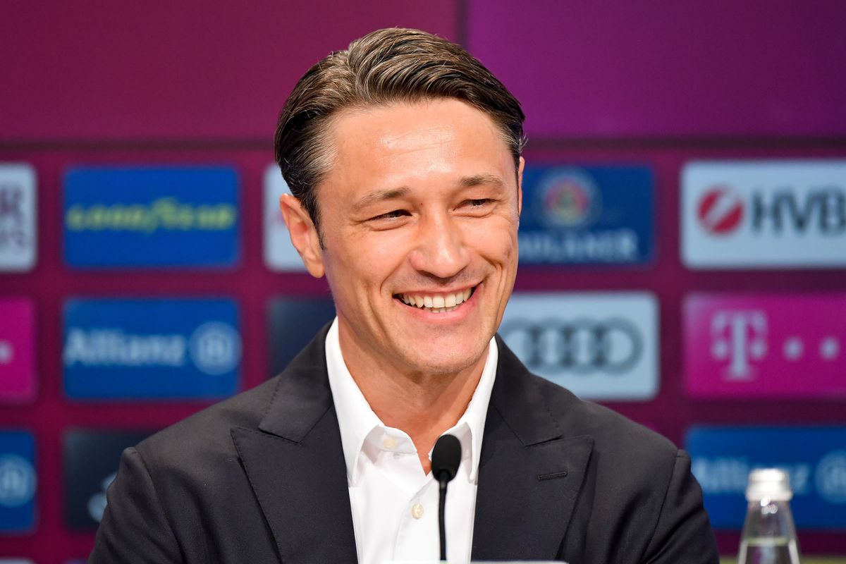 FC Bayern Muenchen Press Conference MUNICH, GERMANY - JULY 02: FC Bayern Muenchen's new head coach Niko Kovac looks on during FC Bayern Muenchen's season opening press conference at Allianz Arena on July 2, 2018 in Munich, Germany