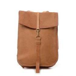 """So spare and minimal. <a href=""""http://roztayger.com/product/natural_tan_postal_backpack_by_kika_ny"""">Postal Backpack by Kika NY</a>, $678 at Roztayger."""