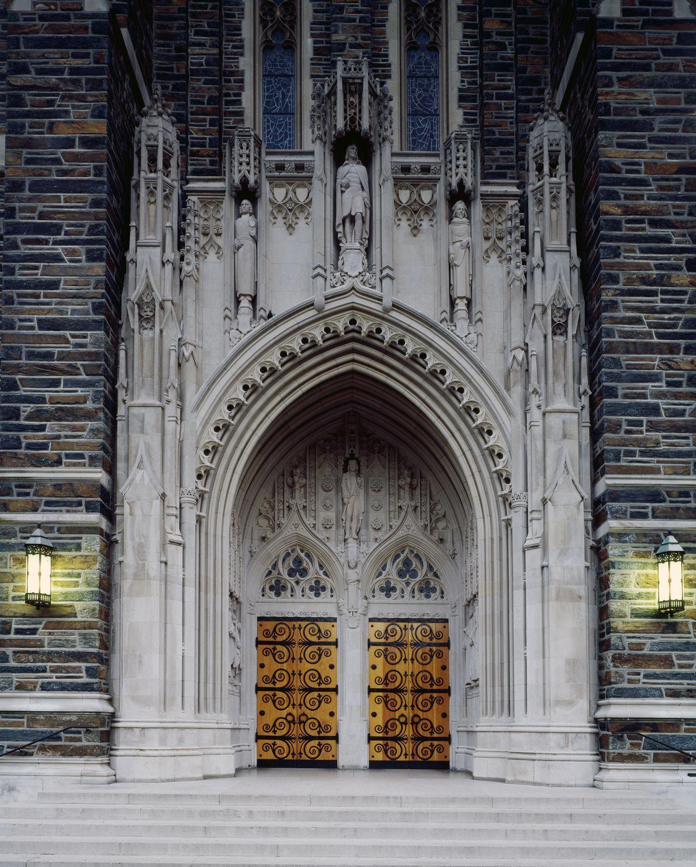 Doorway to the Duke University Chapel, Durham, North Carolina
