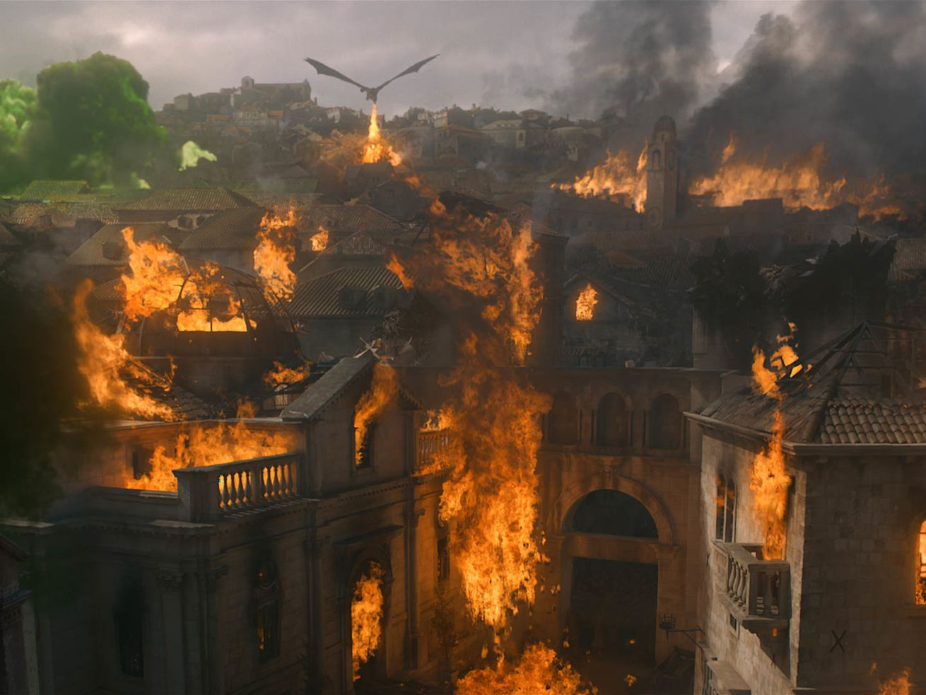 Daenerys unleashes her dragon on King's Landing — and reveals the series' endgame.
