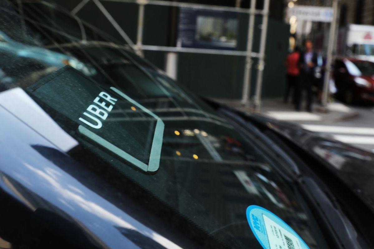 Uber car in Manhattan