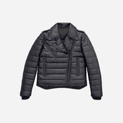Padded Leather Jacket, $349