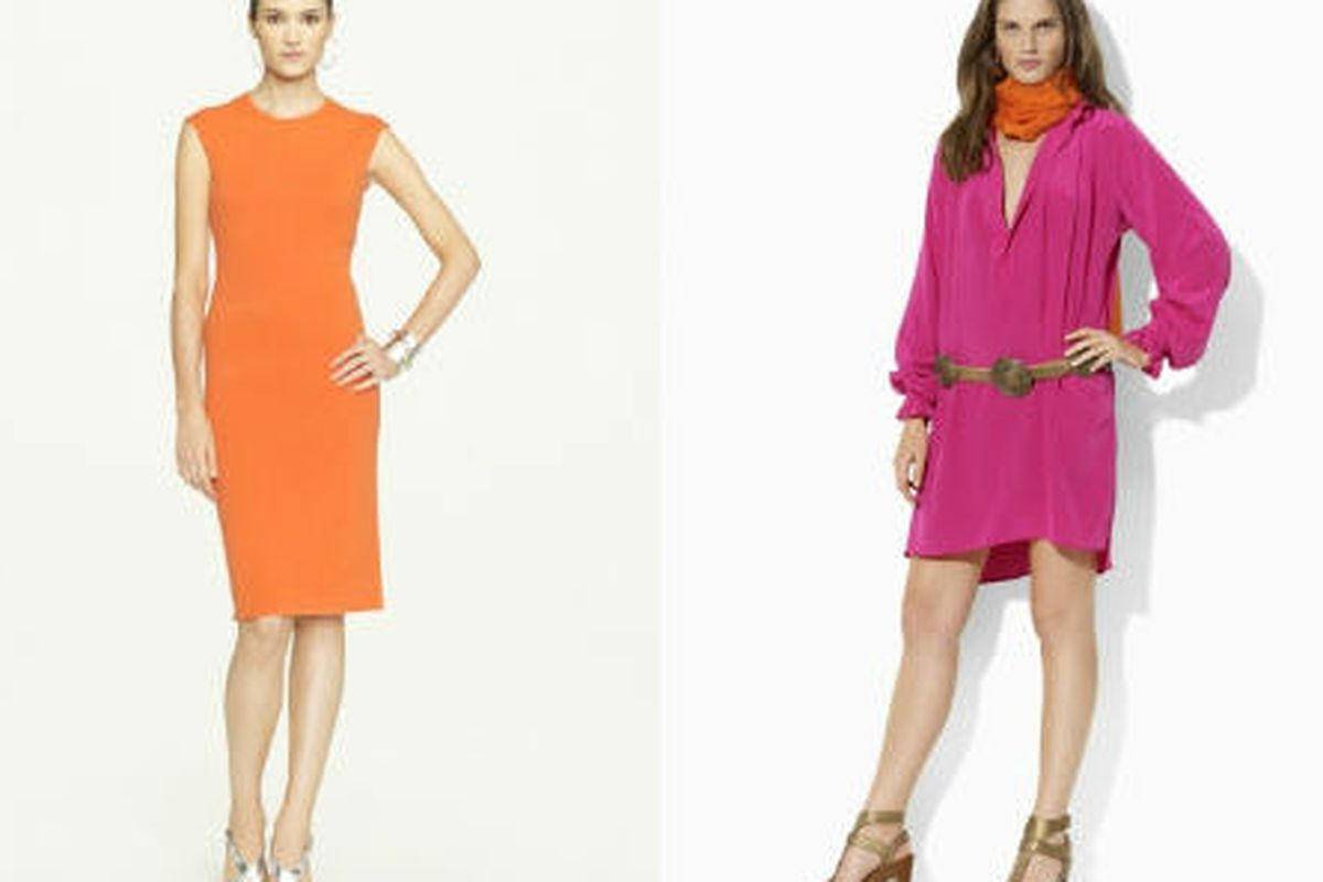 """<a href=""""http://www.ralphlauren.com/product/index.jsp?productId=12253386&amp;cp=2943768.12624340&amp;view=99&amp;parentPage=family"""">Open-back cashmere dress</a>, $406 (was $798), and the <a href=""""http://www.ralphlauren.com/product/index.jsp?productI"""
