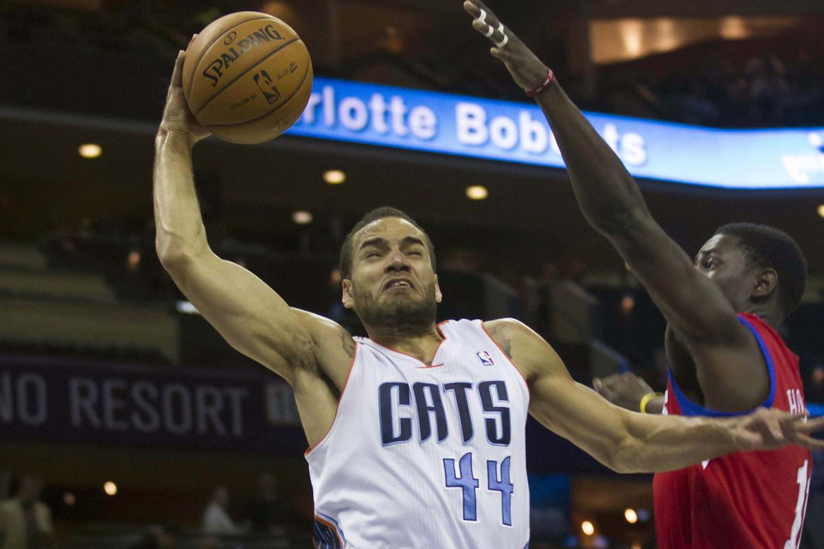 Jeffery Taylor rises for a dunk at a game against the 76ers earlier this season
