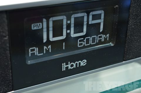 iHome's 2012 lineup of iPhone and iPad speaker docks (hands