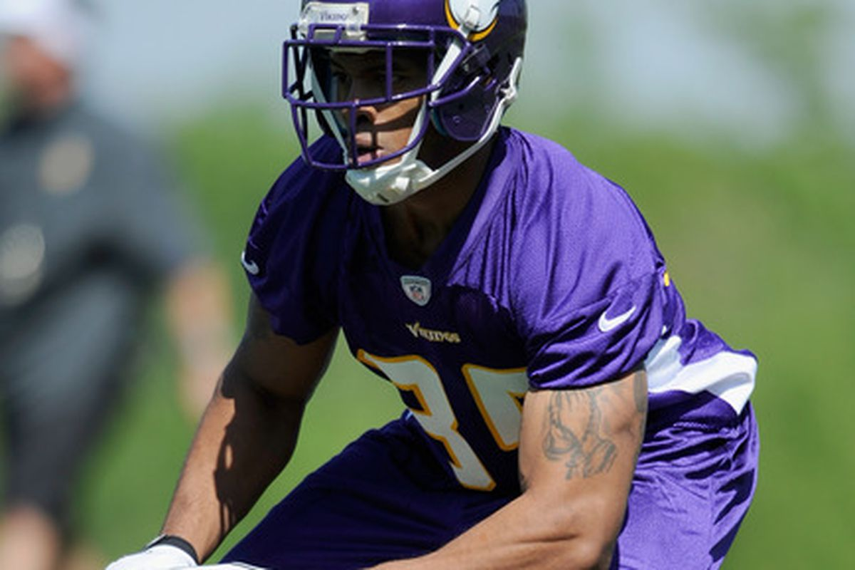 Sadly, the Training Camp practice field was the only capacity we saw Greg Childs during his Vikings career.
