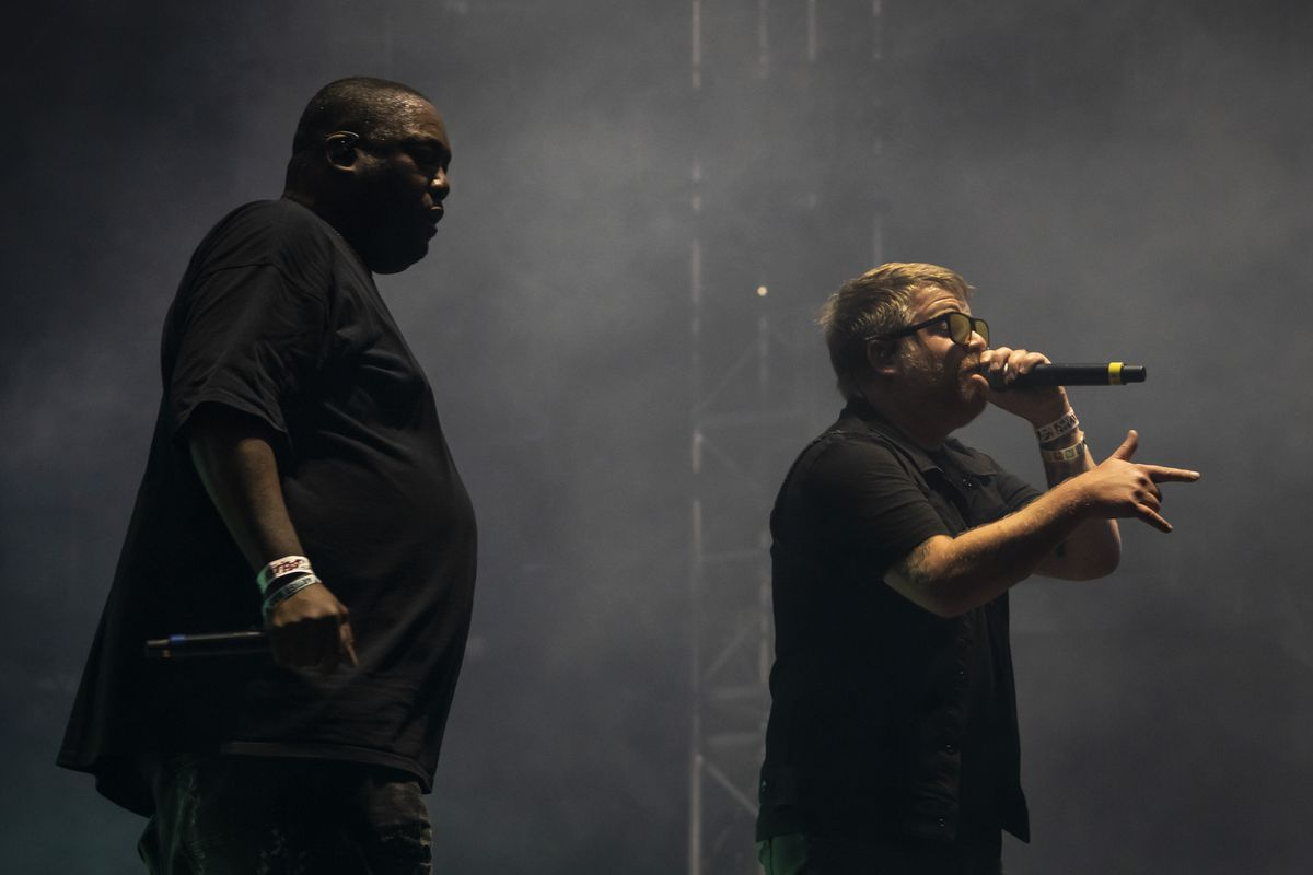 Killer Mike and El-P of Run the Jewels perform on Day 3 of Riot Fest in Douglass Park on Saturday night.