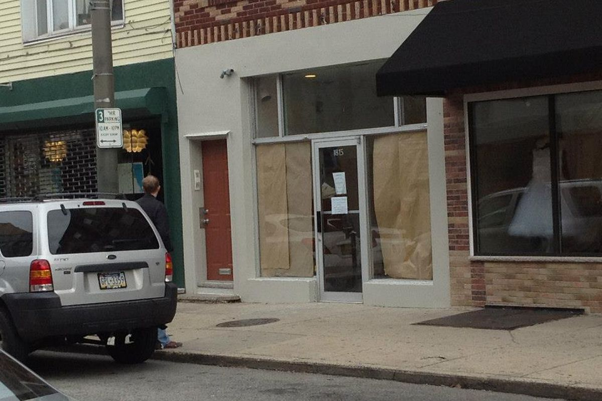 The kraft paper will come down in mid-November. Image credit: Facebook/Home