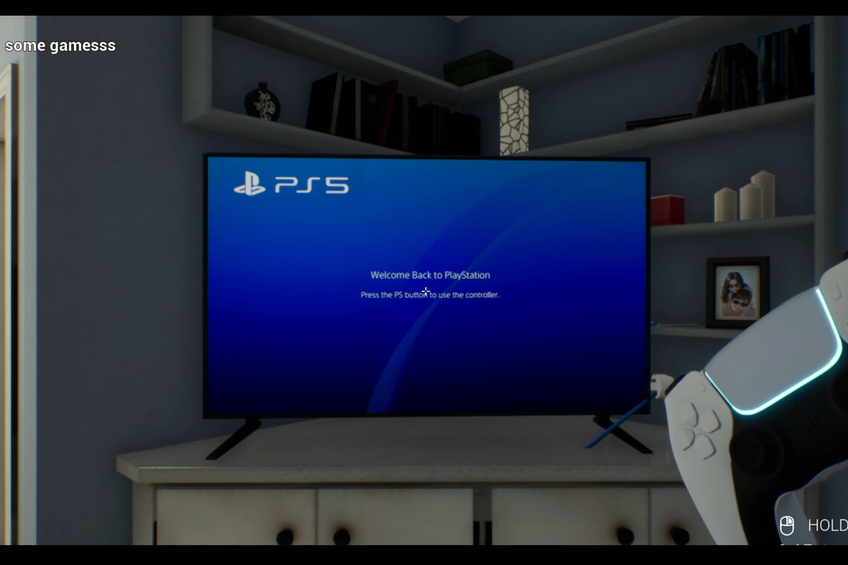 A video game version of setting up a new PS5 console.