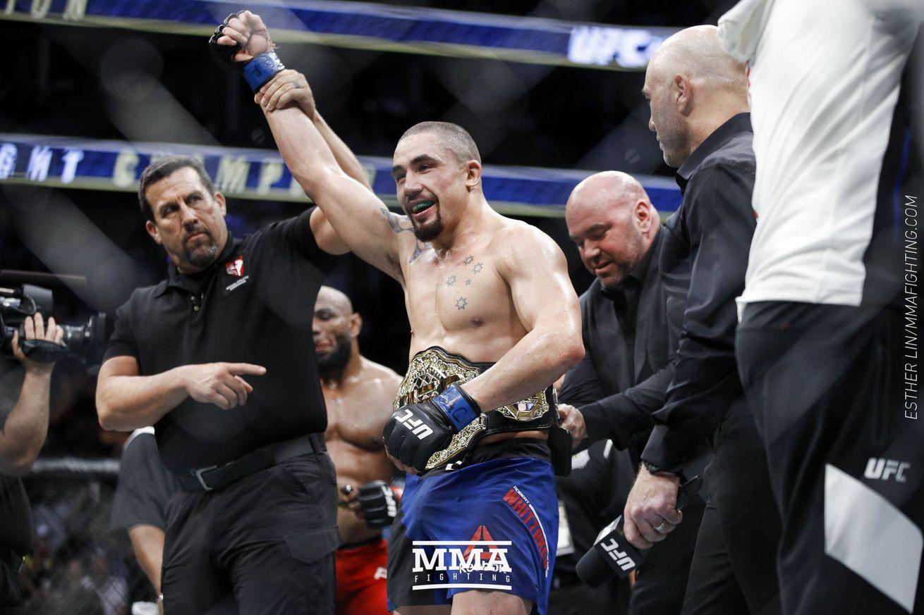 Robert Whittaker (pictured) will defend his middleweight title against Kelvin Gastelum at UFC 234 in Australia next year.