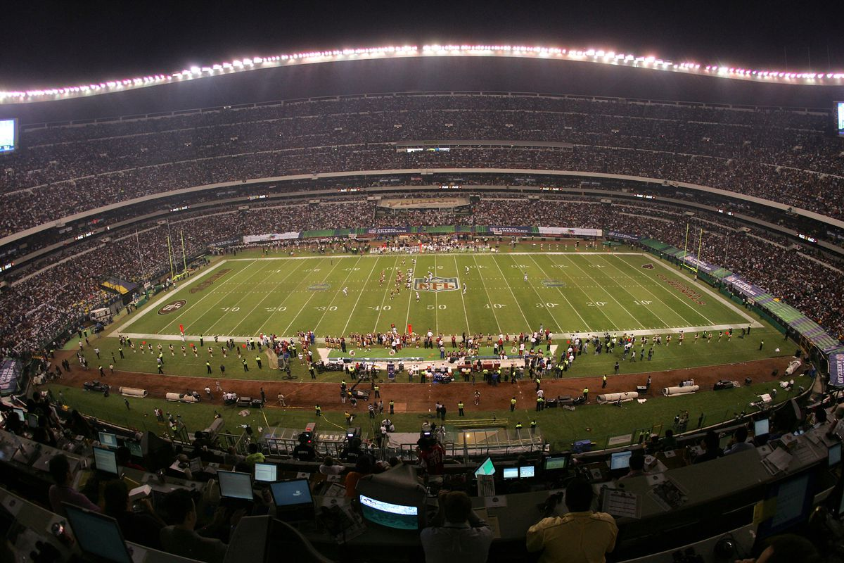 Mexico City's Estadio Azteca during an NFL game in 2005