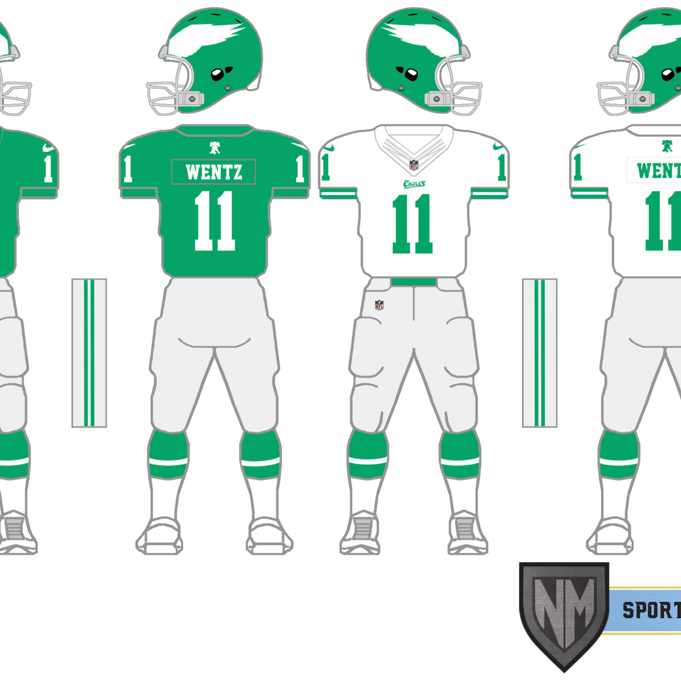 c4bd9c7b311 Here's what modern Eagles Kelly Green uniforms could look like - Bleeding  Green Nation