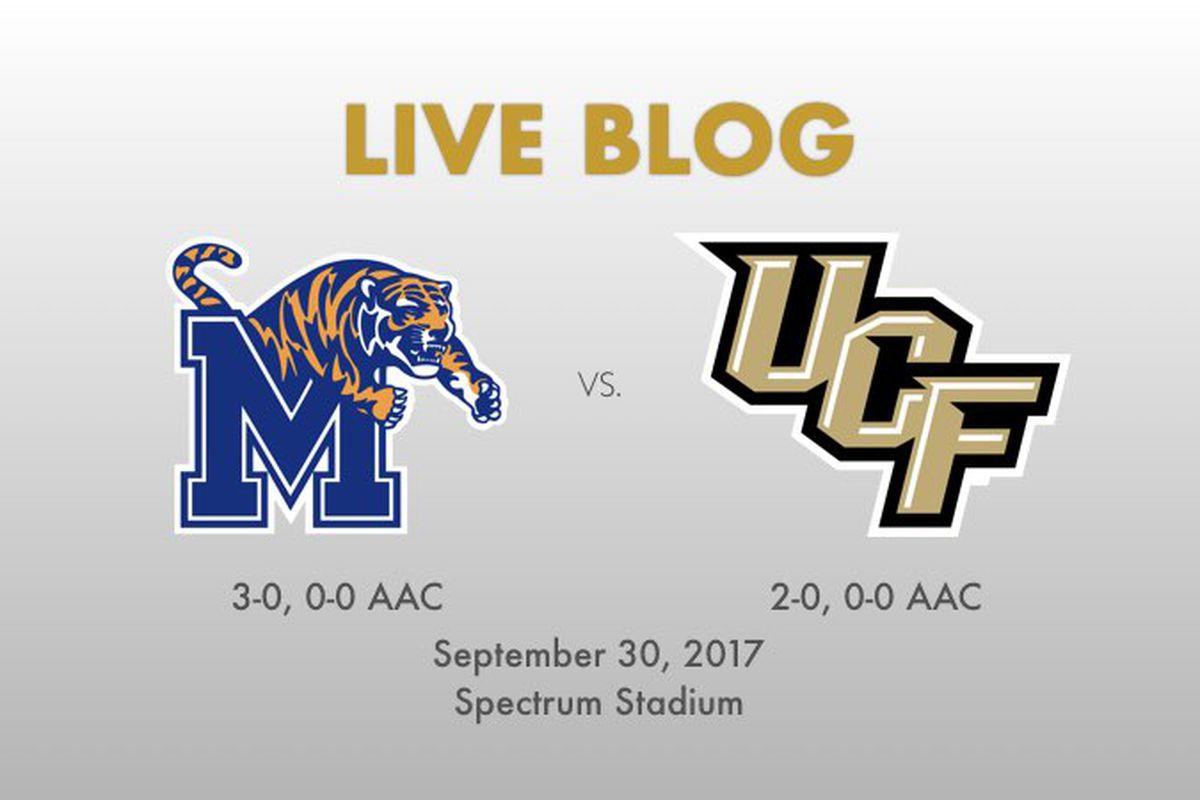 Memphis vs. UCF - 7 p.m., Saturday, September 30, 2017 - Spectrum Stadium -