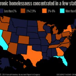 Chronic homelessness is concentrated in a few states Story by Sara Weber