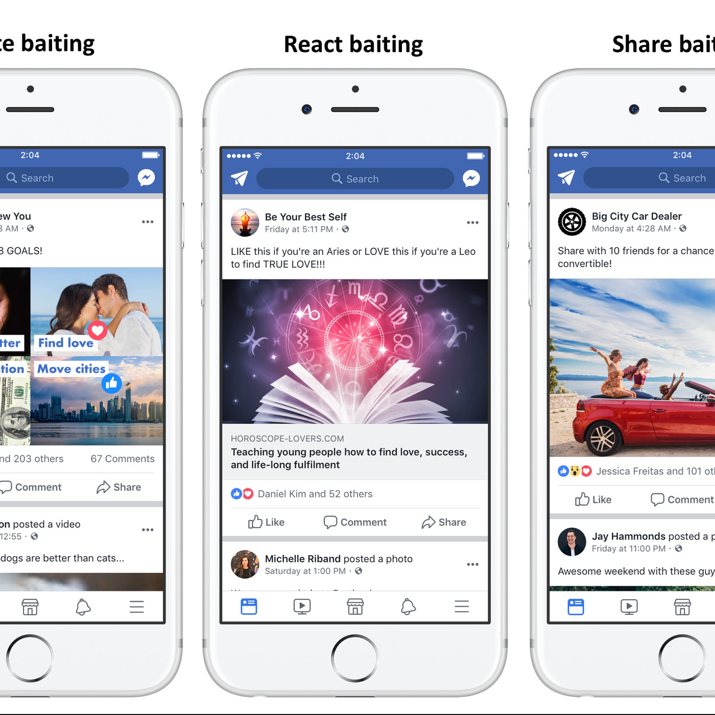 Facebook is clamping down on posts that ask people for 'Likes' or