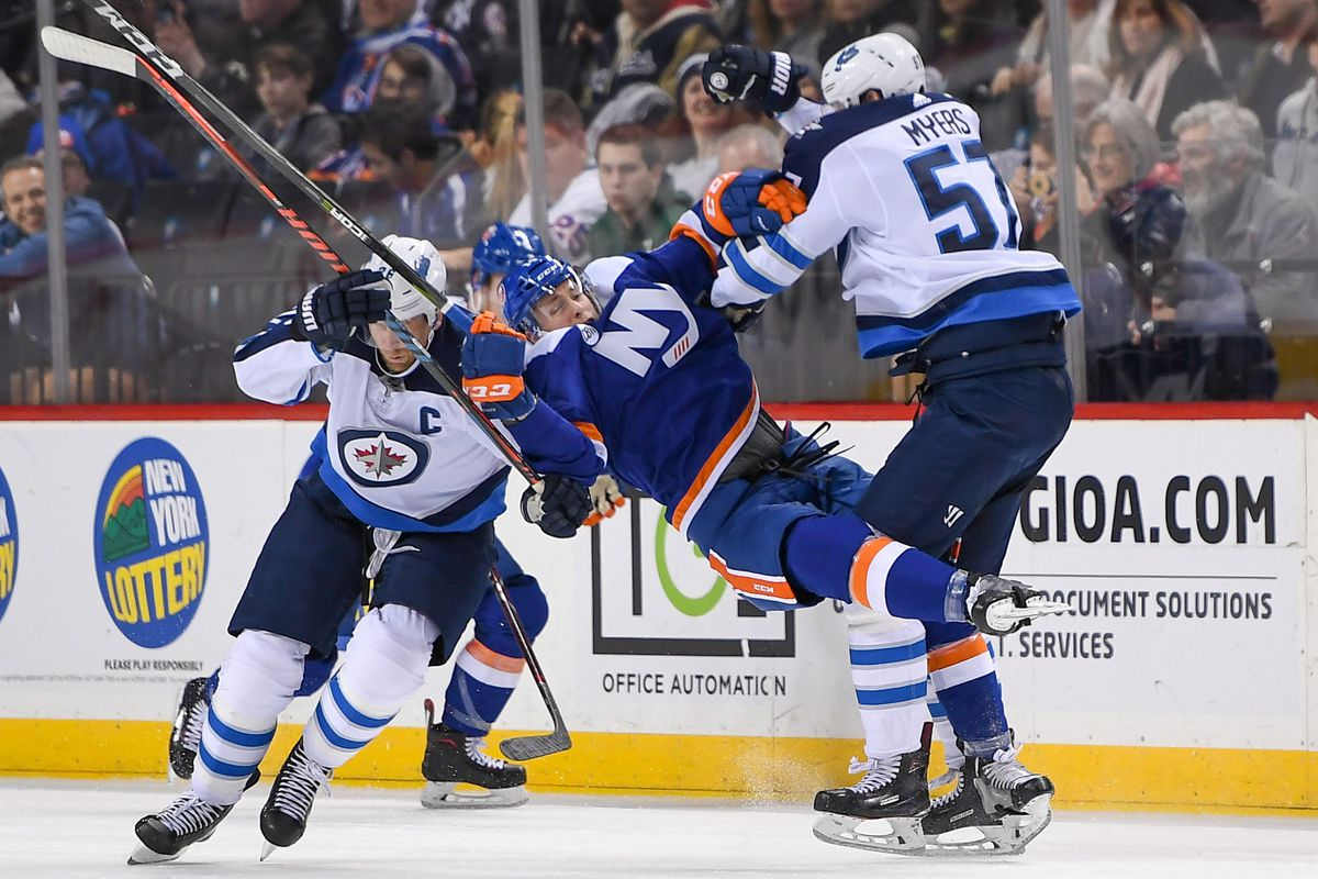 NHL: Winnipeg Jets at New York Islanders