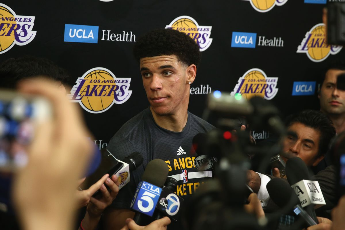 Lonzo Ball is selected No. 2 overall by the Los Angeles Lakers in the Blazer's Edge 2017 NBA Mock Draft.