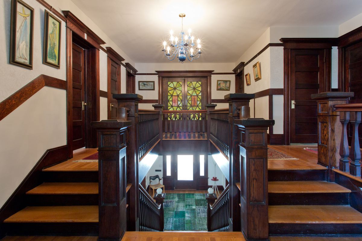 View from staircase landing