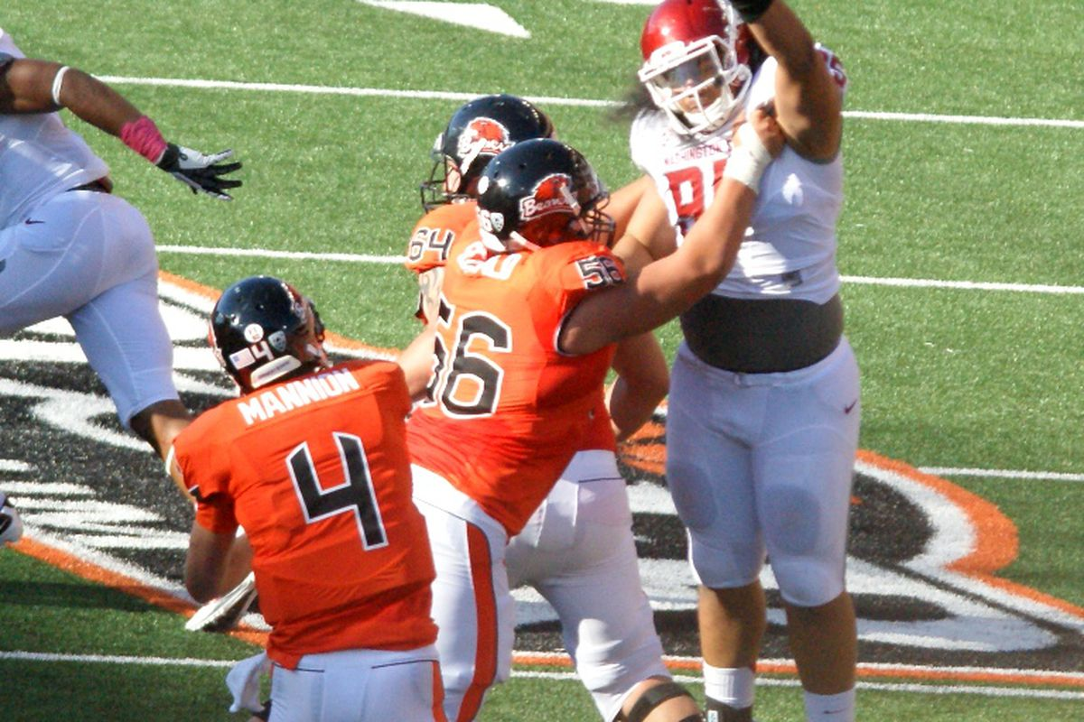 Isaac Seumalo has blocked his way all the to number 3.