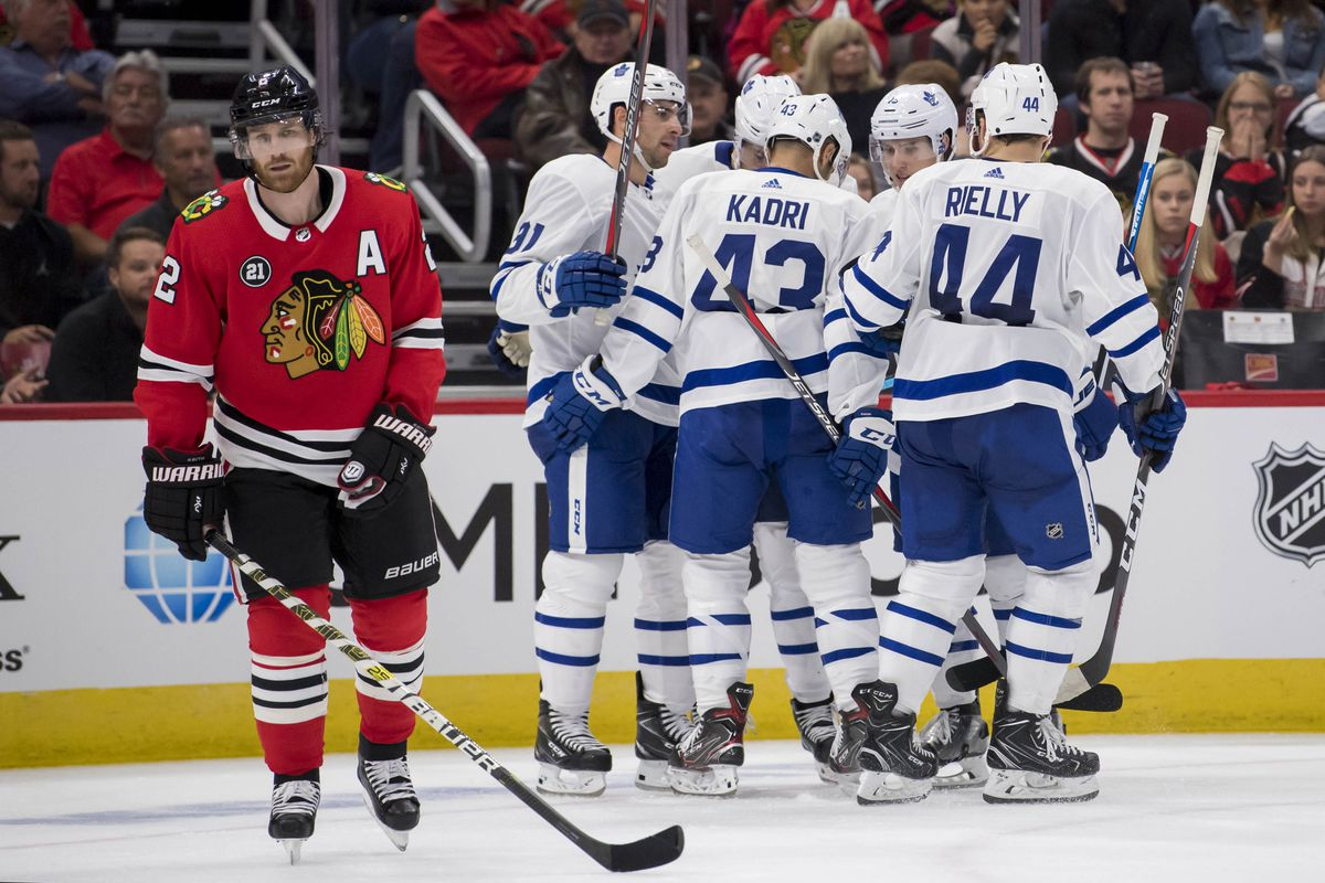 d7e0c0b9975 Blackhawks fall 7-6 to Maple Leafs in wild OT thriller