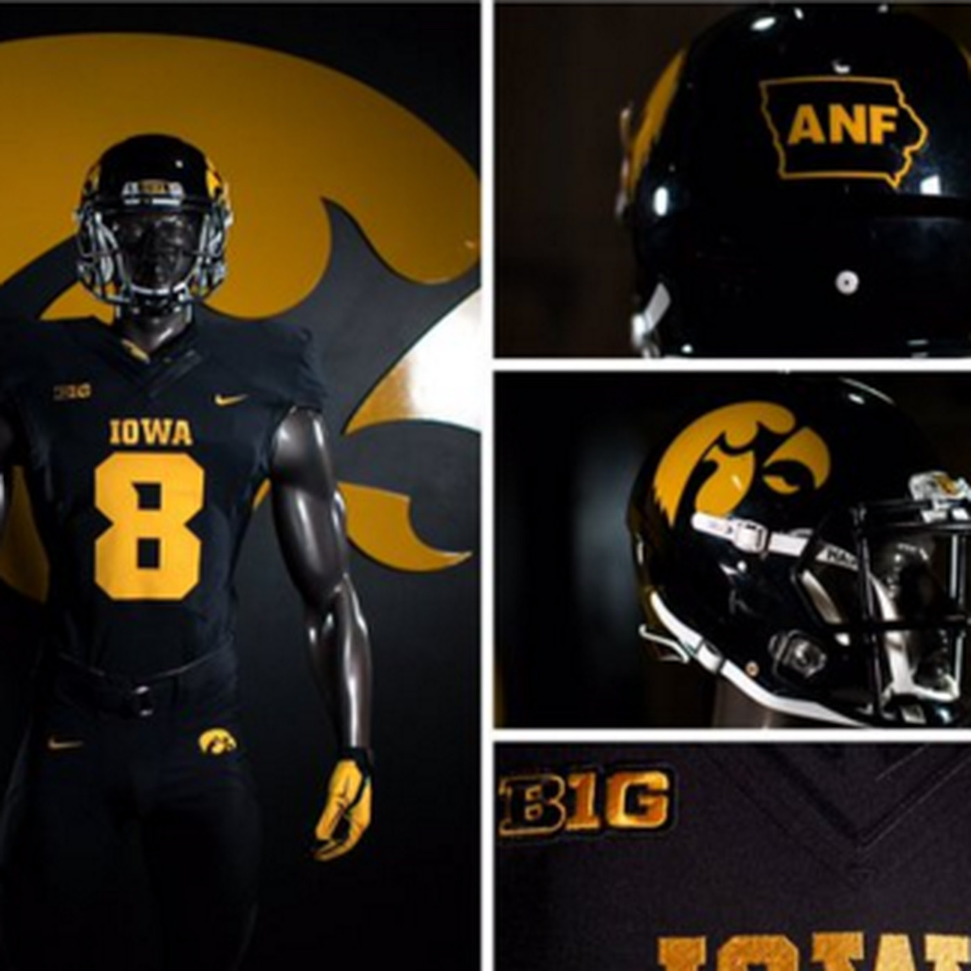 separation shoes 99b8e 85dc6 HERE'S YOUR IOWA HAWKEYE BLACKOUT UNIFORMS FOR TONIGHT ...