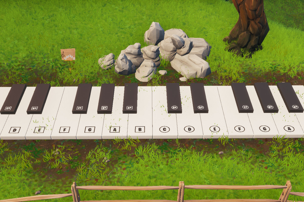 Fortnite Mission Visit An Oversized Piano And Play The