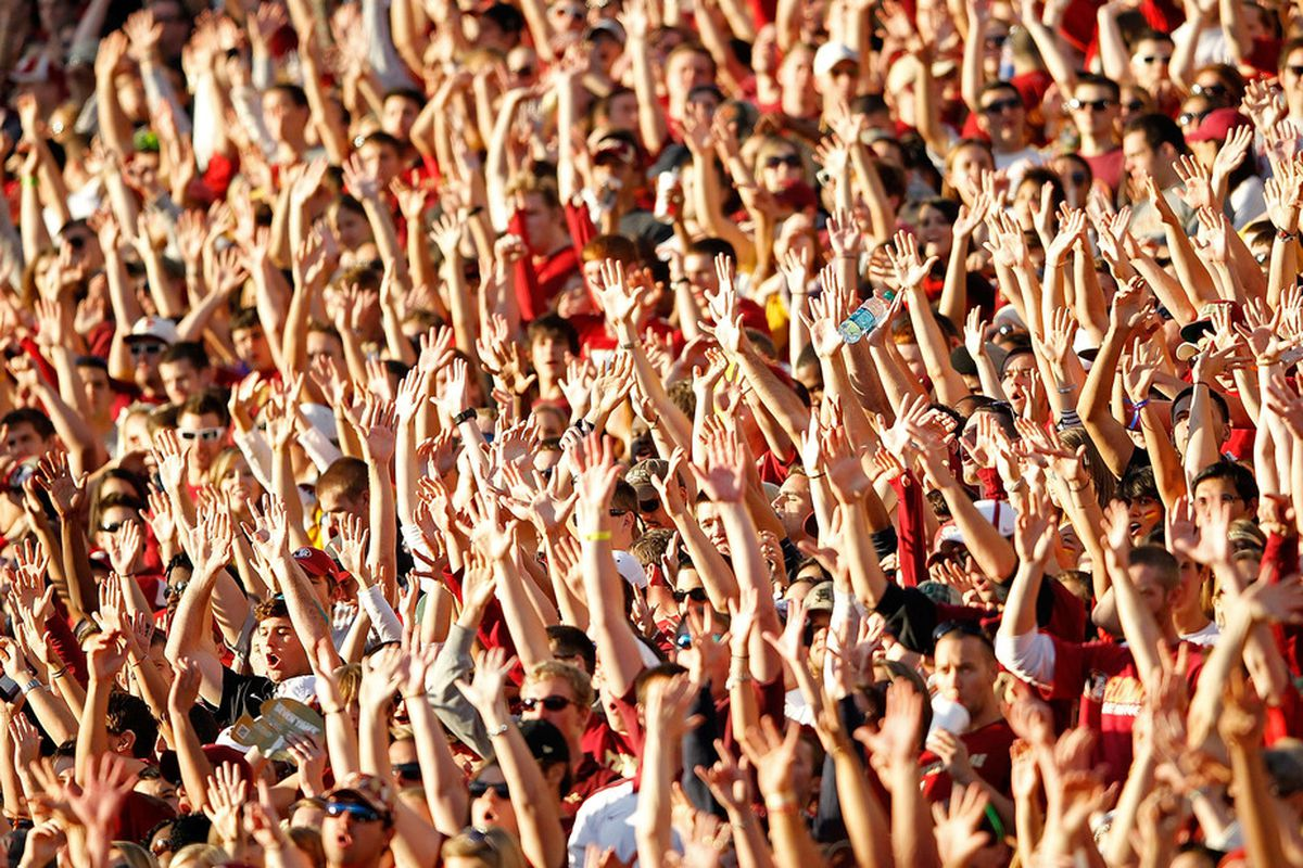 Everyone that wants to bolt for the Big 12, raise your hand. (Photo by Mike Ehrmann/Getty Images)
