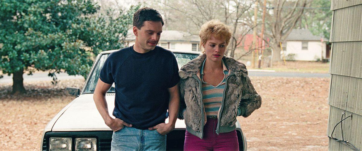 Still of Jeff Gillooly and Tonya Harding in 'I, Tonya'