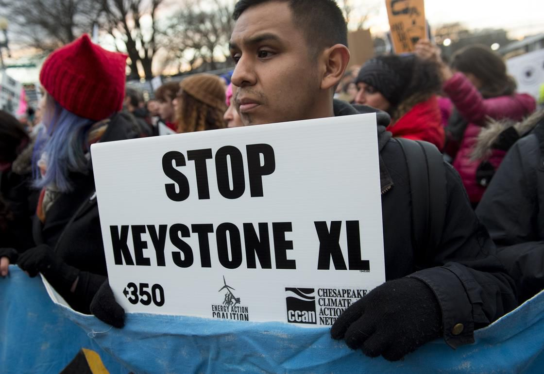 Protesters against the Keystone XL pipeline