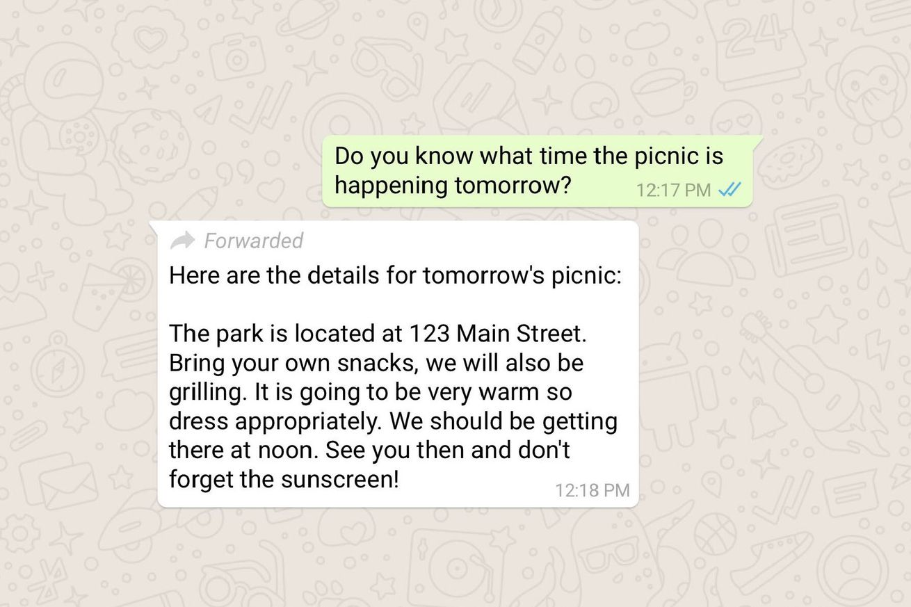 whatsapp will now label forwarded messages
