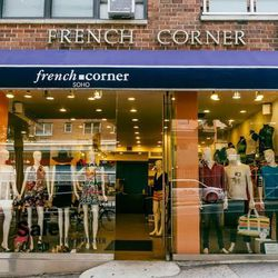 """<b>↑</b><b><a href="""" http://frenchcornersoho.com/"""">French Corner</a></b> (120 East 34th Street) flies under the retail radar, but it's an untapped pool of contemporary fashion for the midtown set. The racks are stuffed with embellished tanks, printed maxi"""