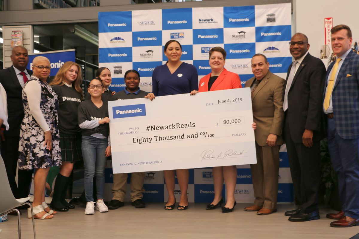 Partner groups, including the Panasonic Foundation, have contributed a total of $100,000 to the city's #NewarkReads effort.