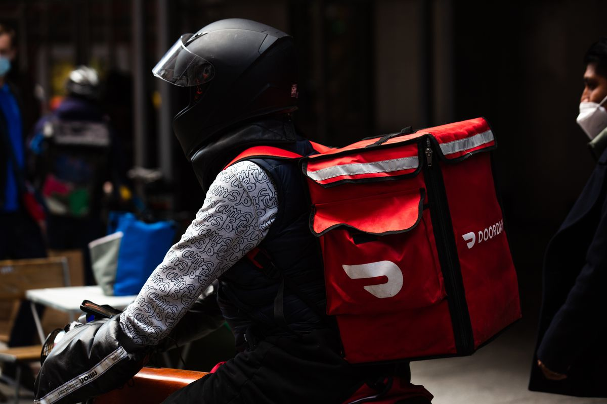 A delivery driver for DoorDash
