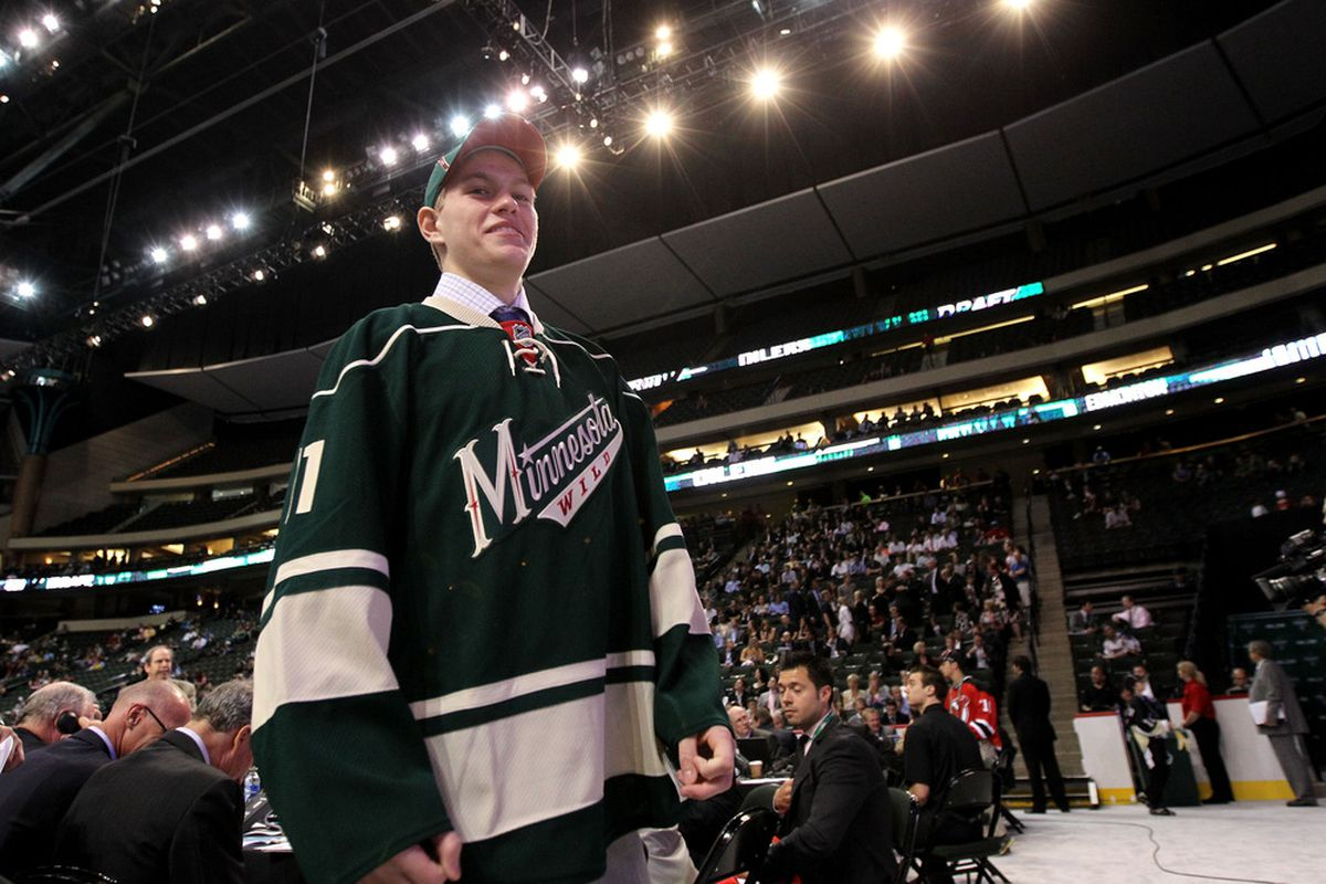 Minnesota Wild prospect Mario Lucia had two goals and a helper on Friday night.