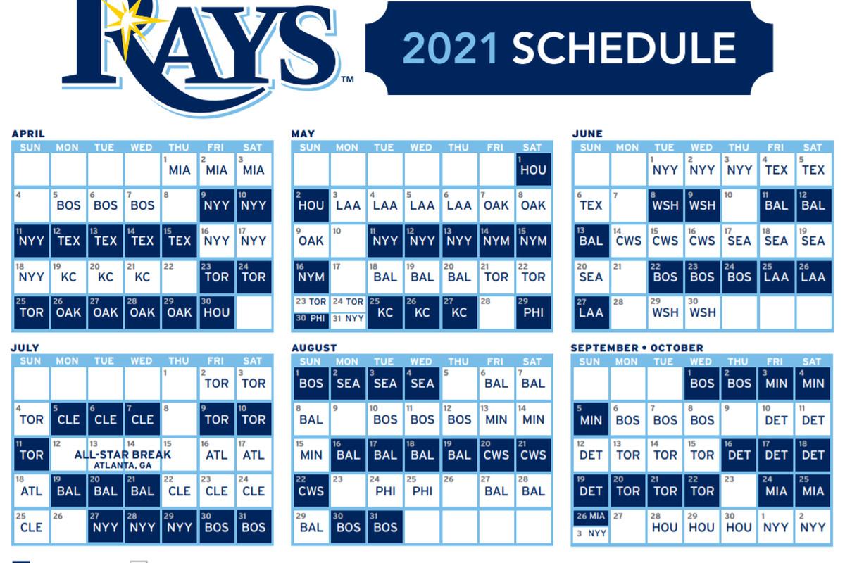 Yahoo Calendar 2021 Rays release 2021 regular season schedule   DRaysBay