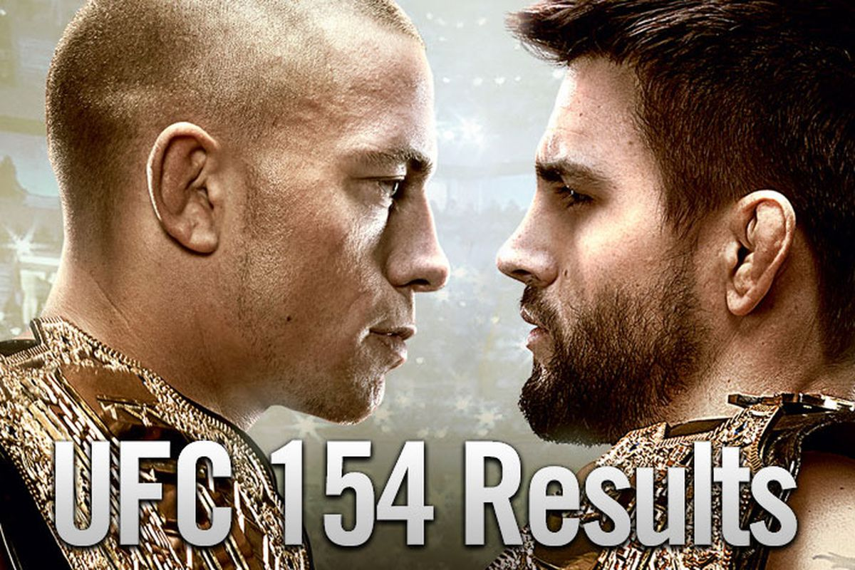 UFC 154 results and LIVE fight...