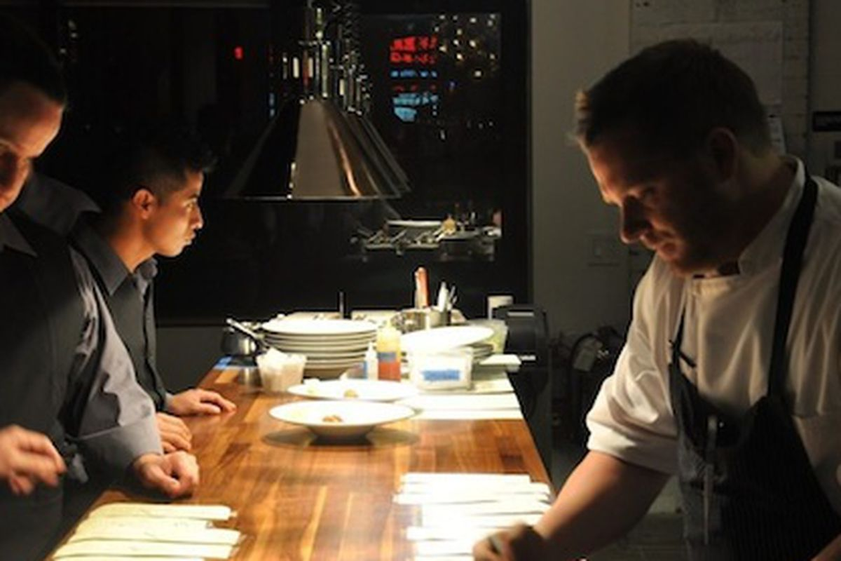 Ryan Hildebrand (on right), hard at work at Triniti.