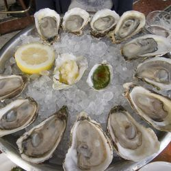 """Oysters from John Dory Oyster Bar by <a href=""""http://www.flickr.com/photos/pabo76/5903407594/in/pool-eater/"""">Pabo76</a>."""