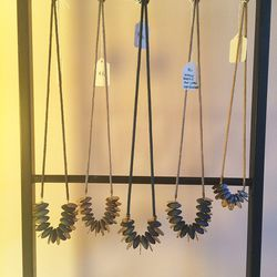 Erin Considine necklaces with indigo dyed beads for $65-$70
