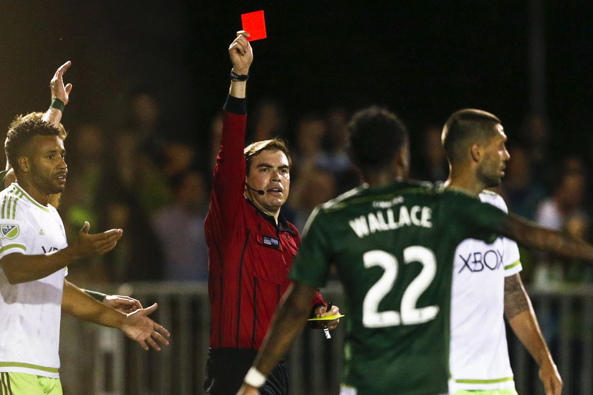 Dempsey is sent off last night in Seattle.