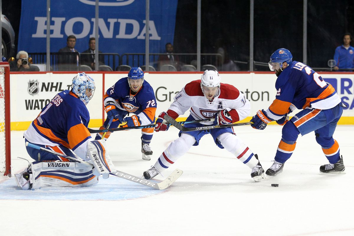 Nick Leddy takes a slash at Brendan Gallagher, drawing the power play on which Weber notched his game-winner.