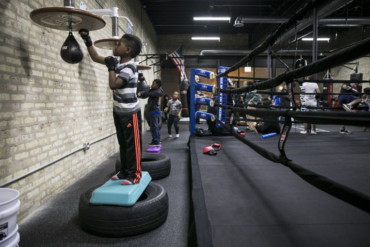 Kids flock to new Austin Boxing Club, gift from local