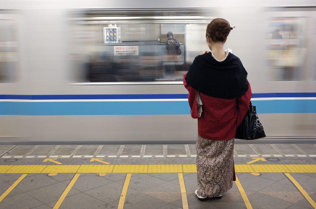 japan woman train